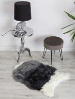 Szaro-biały futrzany dywanik                                  zdj.                                  3