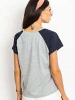 Szaro-granatowy t-shirt Euphoria                                  zdj.                                  2