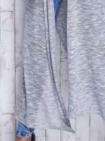 Szary długi sweter wzór melanżowy                                  zdj.                                  8