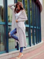 Szary długi sweter wzór melanżowy                                                                          zdj.                                                                         1