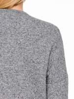 Szary melanżowy bluzożakiet z kieszeniami                                  zdj.                                  8