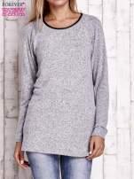 Szary melanżowy sweter