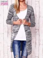 Szary melanżowy sweter z cekinami                                  zdj.                                  1