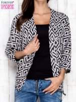 Szary sweter w geometryczne wzory                                  zdj.                                  1