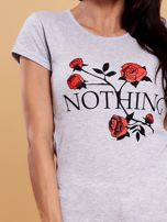 Szary t-shirt damski NOTHING                                  zdj.                                  5