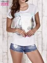 Szary t-shirt damski z napisem CALIFORNICATION                                  zdj.                                  1