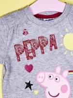 Szary t-shirt dla dziewczynki ŚWINKA PEPPA                                  zdj.                                  5