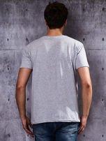 Szary t-shirt męski                                   zdj.                                  2