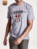 Szary t-shirt męski FC BARCELONA                                   zdj.                                  6