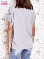Szary t-shirt oversize                                  zdj.                                  4