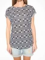 Szary t-shirt z geometrycznym nadrukiem                                  zdj.                                  8