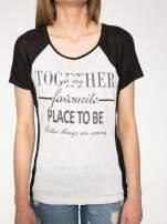 Szary t-shirt z napisem TOGETHER IS MY FAVOURITE PLACE TO BE                                                                          zdj.                                                                         7