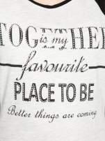 Szary t-shirt z napisem TOGETHER IS MY FAVOURITE PLACE TO BE                                  zdj.                                  8