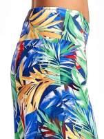 Szerokie spodnie culottes z egzotycznym nadrukiem                                  zdj.                                  6