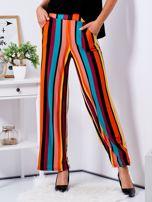 Szerokie spodnie w kolorowe pasy                                  zdj.                                  5