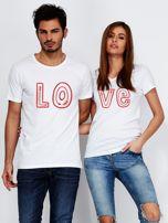 T-shirt biały dla par LOVE                                  zdj.                                  3