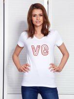 T-shirt biały dla par LOVE                                  zdj.                                  1