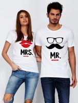 T-shirt biały dla par MRS.                                  zdj.                                  3