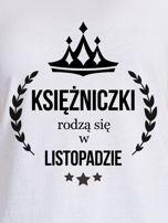 T-shirt damski KSIĘŻNICZKI z nadrukiem korony biały                                  zdj.                                  2