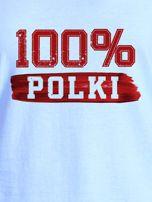 T-shirt damski patriotyczny 100% POLKI niebieski                                  zdj.                                  2