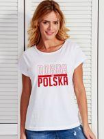 T-shirt damski patriotyczny DOBRA BO POLSKA biały                                  zdj.                                  1