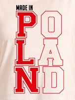 T-shirt damski patriotyczny MADE IN POLAND ecru                                  zdj.                                  2