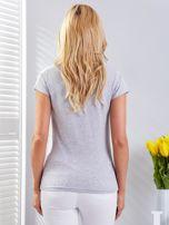 T-shirt jasnoszary z motylami                                  zdj.                                  2