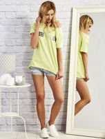 T-shirt z motywem torebek limonowy                                  zdj.                                  4