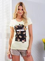 T-shirt żółty z motylami                                  zdj.                                  1