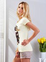 T-shirt żółty z motylami                                  zdj.                                  5