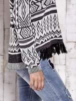 TOM TAILOR Biały sweter w etnicznym stylu z frędzlami                                                                           zdj.                                                                         7