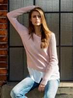 TOM TAILOR Brzoskwiniowy sweter z koszulą                                  zdj.                                  1