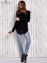 TOM TAILOR Czarny sweter z koszulą                                  zdj.                                  4