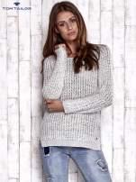 TOM TAILOR Ecru ażurowy sweter                                                                          zdj.                                                                         3