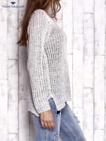 TOM TAILOR Szary ażurowy sweter