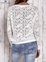TOM TAILOR Ecru ażurowy sweter