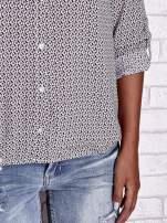 TOM TAILOR Ecru koszula z graficznym nadrukiem                                                                           zdj.                                                                         8
