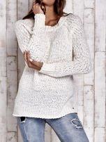 TOM TAILOR Ecru włóczkowy sweter                                                                          zdj.                                                                         1