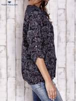TOM TAILOR Granatowa koszula z podwijanymi rękawami wzór paisley                                  zdj.                                  4