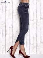 TOM TAILOR Granatowe przecierane jeansy                                  zdj.                                  3