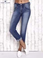 TOM TAILOR Niebieskie przecierane spodnie boyfriend jeans                                   zdj.                                  1