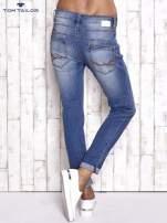 TOM TAILOR Niebieskie spodnie jeansowe tapered z napami                                                                          zdj.                                                                         3