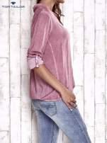 TOM TAILOR Różowa dekatyzowana koszula z podwijanymi rękawami                                                                          zdj.                                                                         4