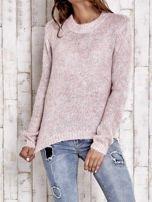 TOM TAILOR Różowy sweter z dodatkiem wełny z alpaki                                  zdj.                                  2
