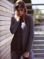 TOM TAILOR Szary ażurowy sweter                                  zdj.                                  1