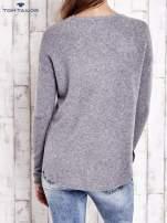 TOM TAILOR Szary gładki wełniany sweter