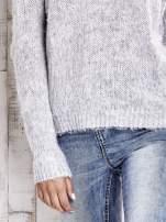 TOM TAILOR Szary sweter z dodatkiem wełny z alpaki                                  zdj.                                  5