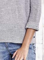 TOM TAILOR Szary sweter z kokardą na plecach