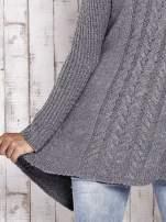 TOM TAILOR Szary wełniany sweter z kaskadowym kołnierzem                                  zdj.                                  6