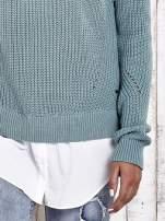TOM TAILOR Zielony sweter z koszulą                                                                          zdj.                                                                         6